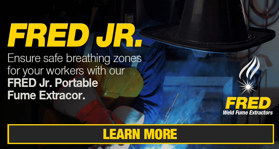 Ensure safe breathing zones for your workers with our FRED Jr. Portable Fume Extractor