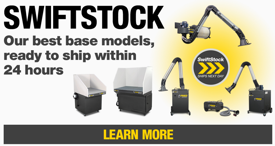 SwiftStock products represent the best of Diversitech's base model fume and dust extraction equipment, ready to ship within 24 hours from any of our 4 warehouses in the U.S.