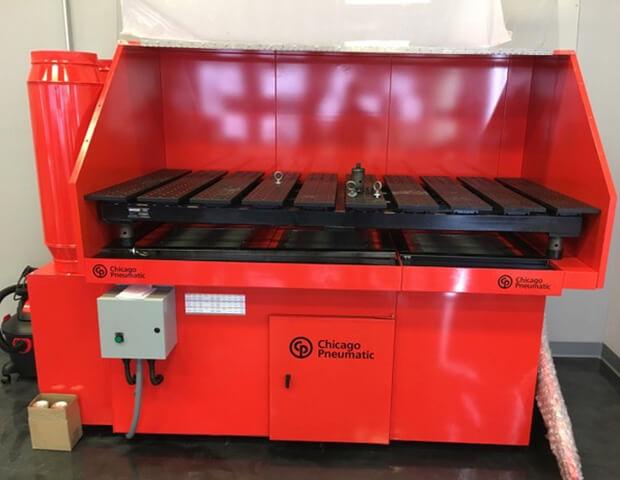 Diversitech custom-built Downdraft Table manufactured for Chicago Pneumatic