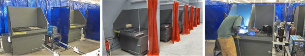 Diversitech Mini Downdraft Tables, installed for the Lincoln Technical Institute