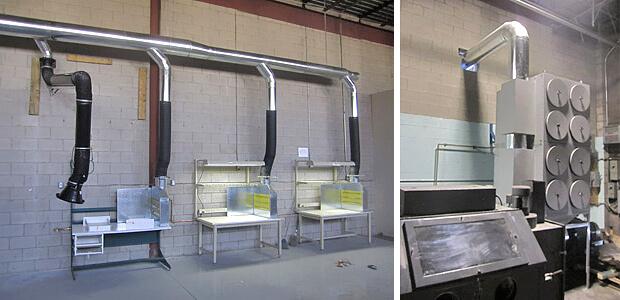 Air filtration installation at Sputtek